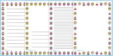 Cupcake Page Borders