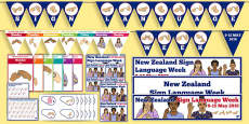 New Zealand Sign Language Week Resource Pack