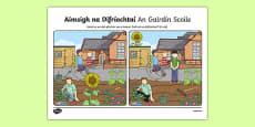 An Gairdín Scoile, Aimsigh na Difríochtaí Activity Sheet