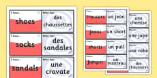 French Clothes Loop Cards