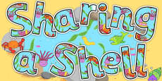 Display Lettering to Support Teaching on Sharing a Shell