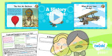 PlanIt - History KS1 - Travel and Transport Lesson 5: A History of Flight Lesson Pack