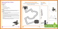 Winnie's Spell Mark Making Busy Bag Resource Pack for Parents to Support Teaching on Winnie the Witch