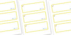Duck Themed Editable Drawer-Peg-Name Labels (Blank)