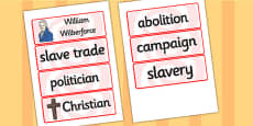 William Wilberforce Word Cards