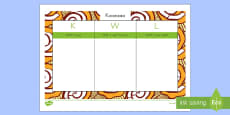 Kwanzaa KWL Grid