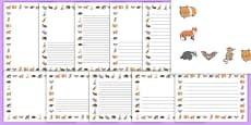 Nocturnal Animals Page Borders Pack