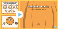 Pumpkin Phonics Final Blends Interactive PowerPoint