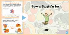 Pŵerbwynt Byw a Bwyta'n Iach