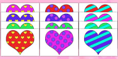 Valentine's Day Patterned Hearts