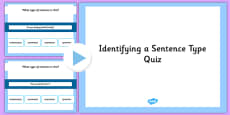 Identifying a Sentence Type SPaG Grammar PowerPoint Quiz