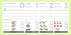 Number Formation Activity Sheets 0-9 Standard Version