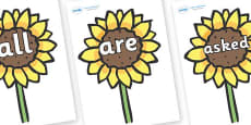 Tricky Words on Sunflowers