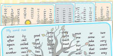 Australia - Winter Themed KS1 Word Mat