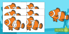 Numbers 0-31 on Clownfish