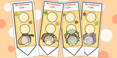 Autumn Sticker Reward Bookmarks 30mm
