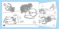 The Little Fish Colouring Sheets
