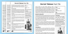Harriet Tubman Differentiated Fact File