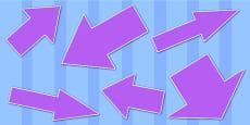 Purple Directional Arrows Cut Outs