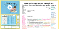 * NEW * Y6 Letter Writing: Formal Model/Example Text