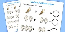 Owl Addition Sheet