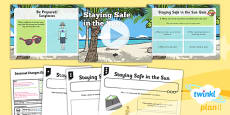 PlanIt - Science Year 1 - Seasonal Changes (Spring and Summer) Lesson 6: Staying Safe in the Sun Lesson Pack