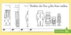 Goldilocks Story Colouring Sheets Spanish