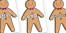 Connectives on Gingerbread Man