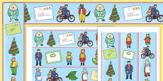 Display Borders to Support Teaching on The Jolly Christmas Postman