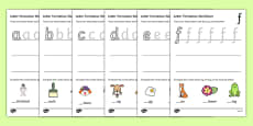 Letter Formation Worksheets (a-z)