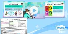 PlanIt - Computing Year 2 - Computer Art Lesson 5: PC Pop Art Lesson Pack