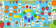 Ready Made Display Pack to Support Teaching on The Very Hungry Caterpillar