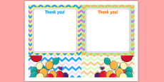 2nd Birthday Party Thank You Notes