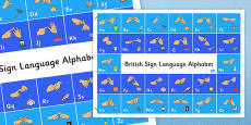 Large British Sign Language Alphabet Poster