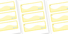 Daffodil Themed Editable Drawer-Peg-Name Labels (Colourful)