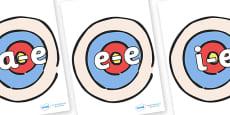 Modifying E Letters on Targets