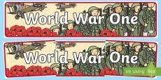 World War One Display Banner