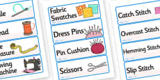 Fashion Design Studio Role Play Labels