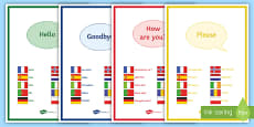 One Keyword in 10 Different Languages Display Posters