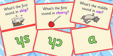 Phoneme Isolation Matching Cards