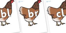 Initial Letter Blends on Hen