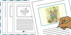 The Tale of Peter Rabbit Story Writing Frames