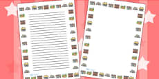 Town and Country Portrait Page Borders