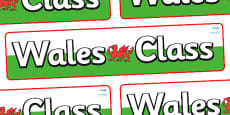 Wales Themed Classroom Display Banner