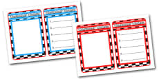 American Diner Role Play Order Forms