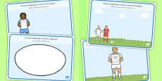 Rugby Playdough Mats Arabic Translation