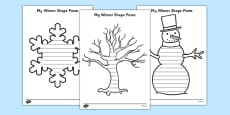 Winter Shape Poetry Templates