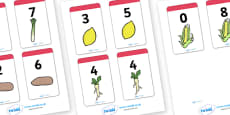 Number Bonds to 8 Matching Cards (Food)