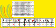 The Olympics Number Track (1-20)