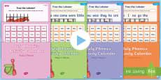 * NEW * July Phonics Activity Calendar PowerPoint Pack